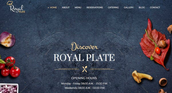 Royal Plate - Sticky Navigation Supported WordPress Theme