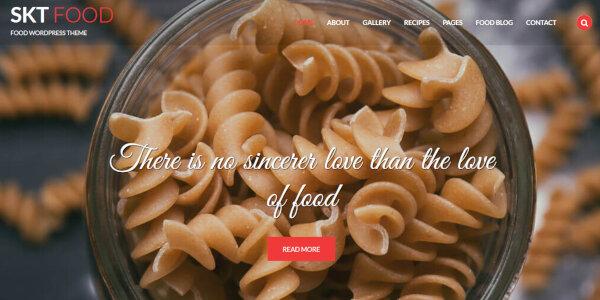 SKT Food -Inbuilt Slider Featured WordPress Theme