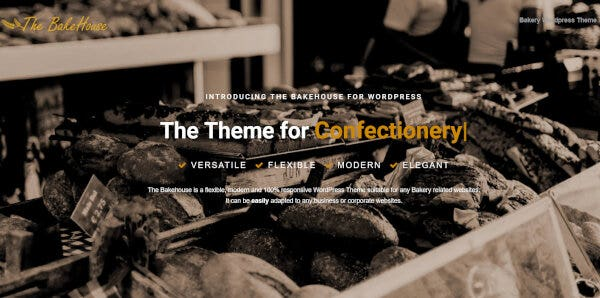 Bakehouse -One-Click Installation Supported WordPress Theme