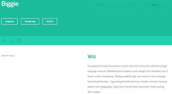6. Biggie – Widget Ready WordPress Theme