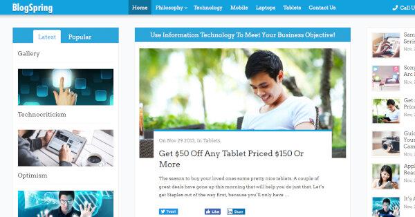 17. MyBlog – Cross-browser Compatible WordPress Theme