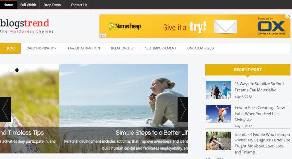 20. BlogSpring – Call to Action Button WordPress Theme