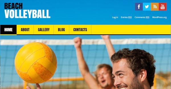 2. Flat Volleyball – Multilingual Ready WordPress Theme