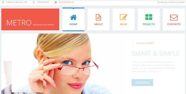 Flat Consulting – Cherry Framework WordPress Theme