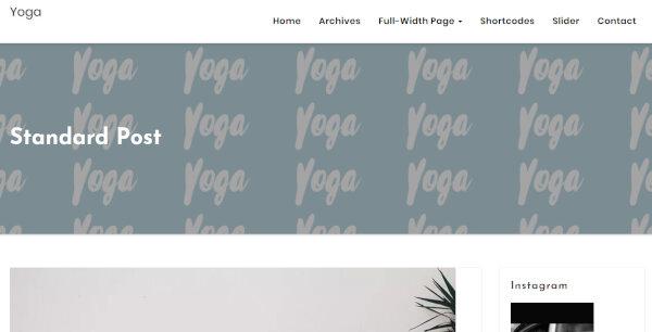 15. Yoga – Full-Width WordPress Theme