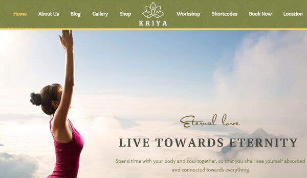 11. Kriya Yoga – Widget Ready WordPress Theme