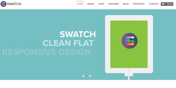 18. Swatch – Responsive WordPress Theme
