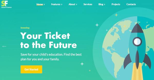 9. Smart Finance – WPBakery Page Builder WordPress Theme
