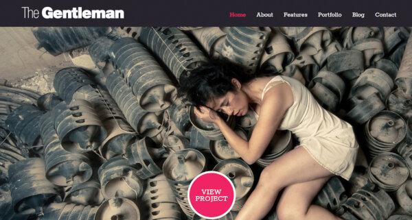12. The Gentleman – Revolution Slider WordPress Theme