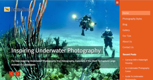 scuba shot user friendly wordpress theme