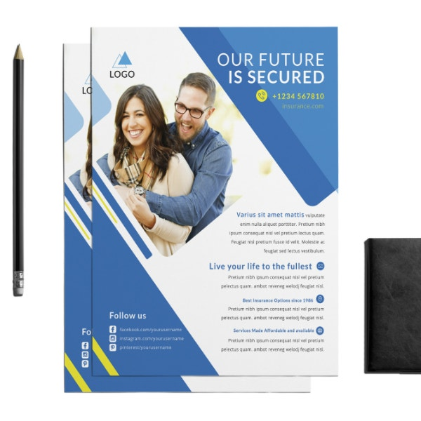 secured insurance business flyer format