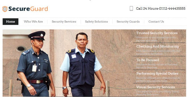 Secureguard – Custom WordPress Theme