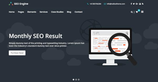 seo engine– seo and digital wordpress theme