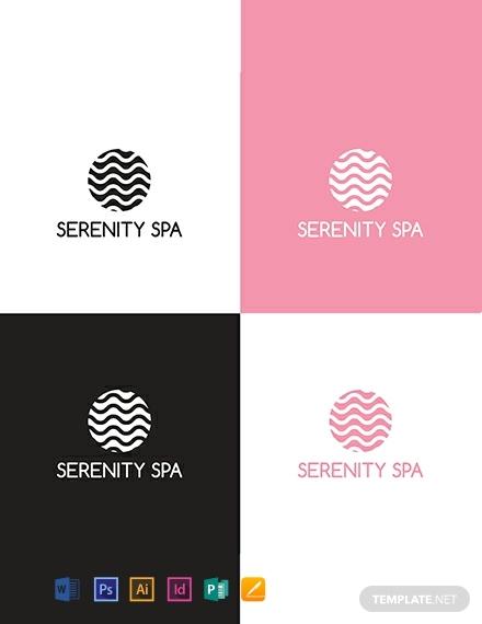 serenity spa company logo sample