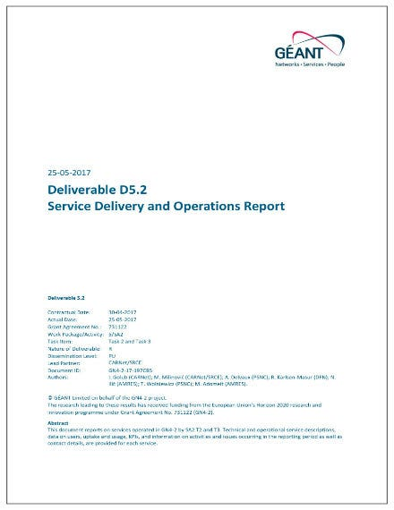 service delivery and operations report 01