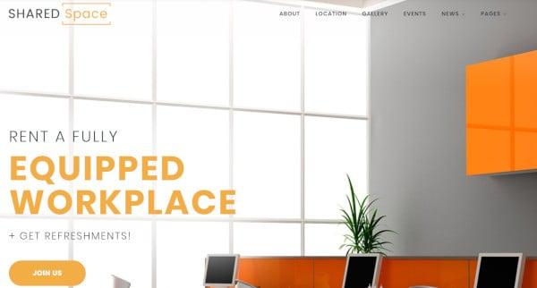 sharedspace customized wordpress theme