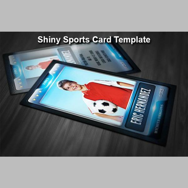 shiny sports trading card sample