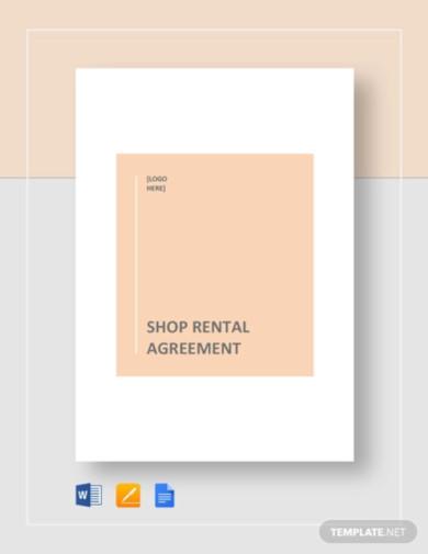 shop rental agreement template1