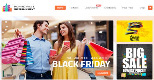 shopping mall customer friendly wordpress theme