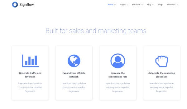 signflow – tech startup wordpress theme