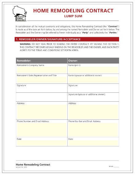 simpe home remodeling contract 01