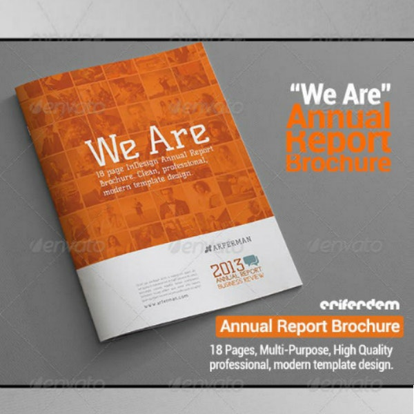 simple annual report brochure format