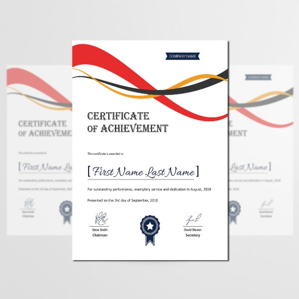 simple business achievement certificate layout