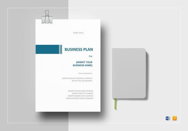 simple business plan template mock up