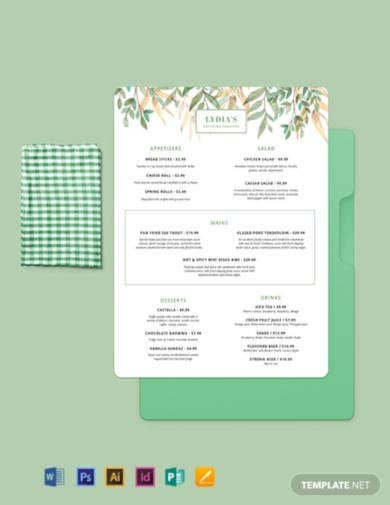 10  best catering menu templates