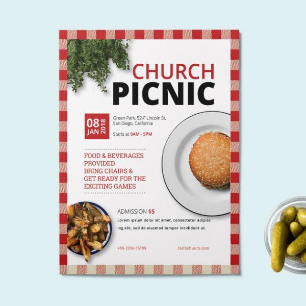 simple church picnic flyer format