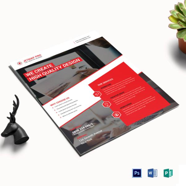 simple executive corporate flyer sample