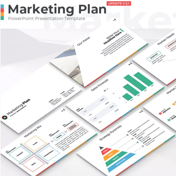 Simple Marketing Plan PowerPoint Sample