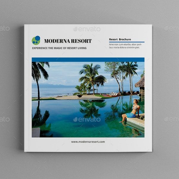 Simple Modern Resort Brochure Sample