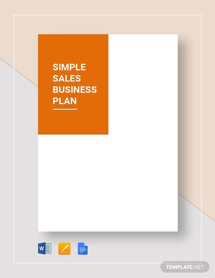simple sales business plan