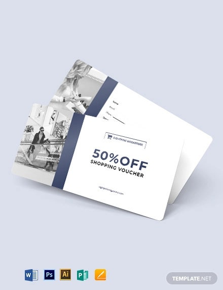 simple shopping voucher template
