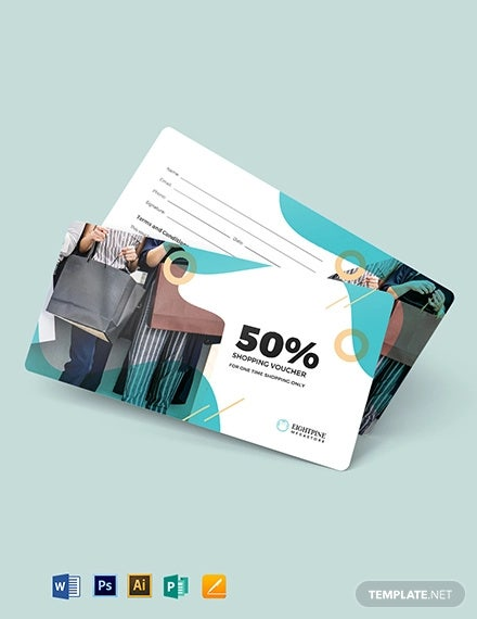 sister shopping voucher template