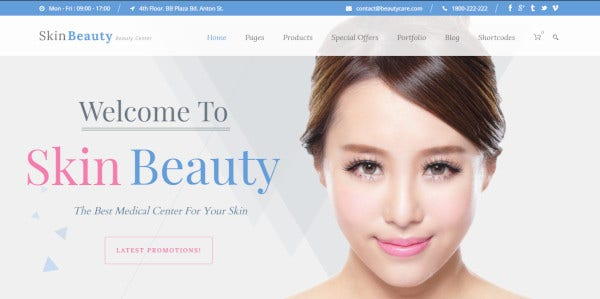 skin beauty – 100 responsive wordpress theme