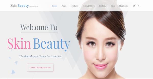 skin beauty beauty and spa wordpress theme