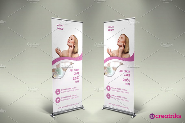 skin care roll up banner