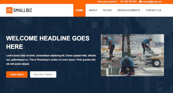 smallbiz – widget ready wordpress theme