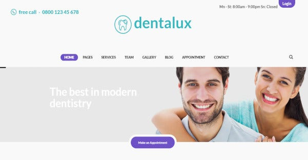 smile responsive wordpress template