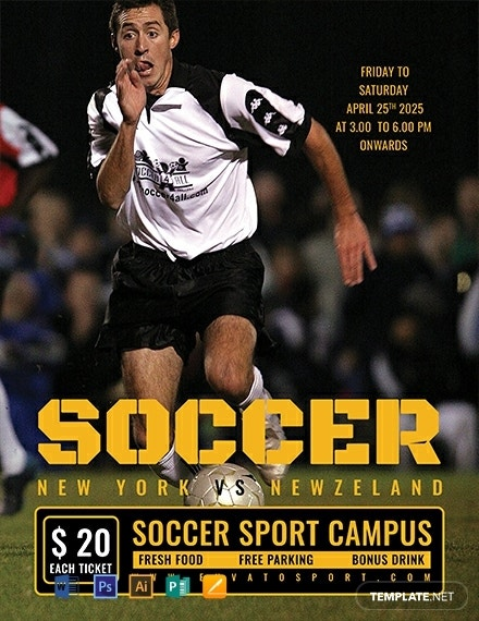 soccer sports event flyer example
