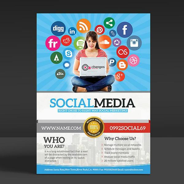 Social Media Advertising Flyer Sample
