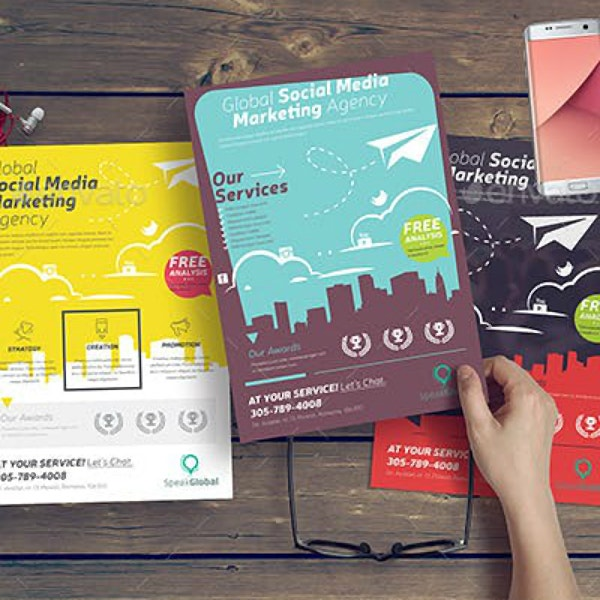 social media marketing agency flyer