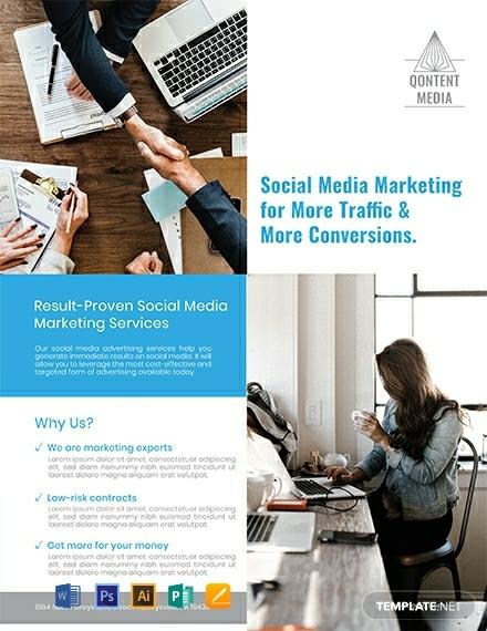 social media marketing flyer sample