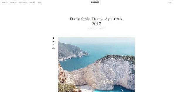 Sophia handy WordPress Theme