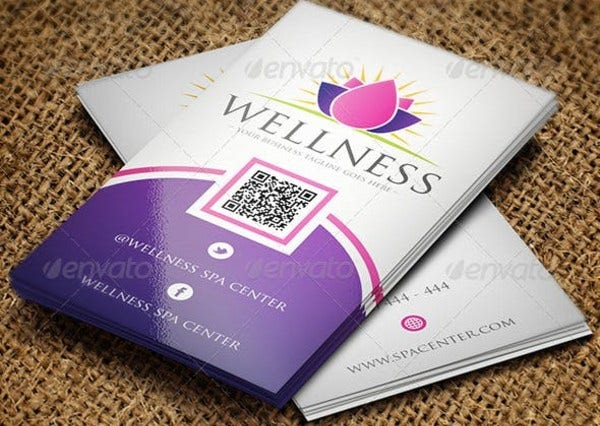 spa business card preview