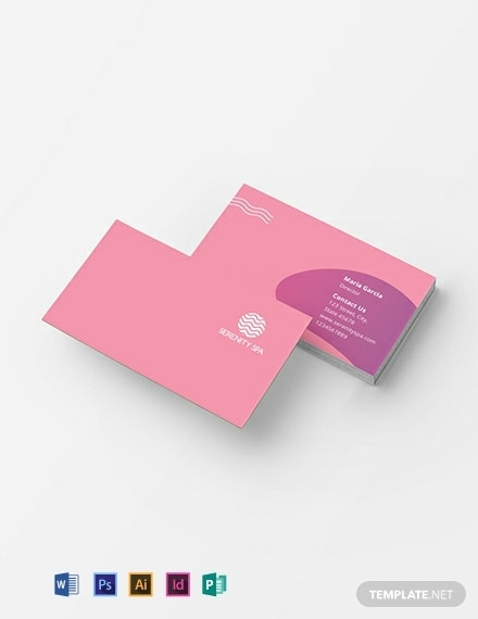 spa business card template 440x570 1