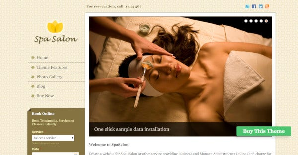 Spa Salon – WordPress Theme for Beauty and Spa