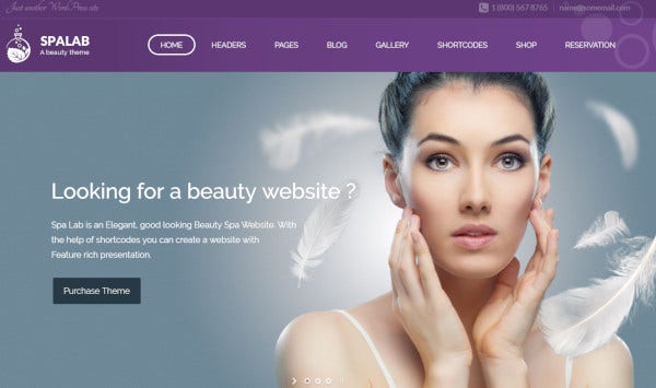 spa lab – woocommerce wordpress theme